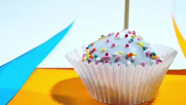cake pops in color frames - pom pom stock videos & royalty-free footage