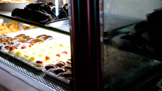 cakes and pastries in pastry shop - cream cake stock videos & royalty-free footage