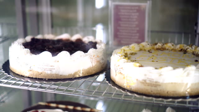 cakes and pastries in pastry shop - dairy product stock videos & royalty-free footage