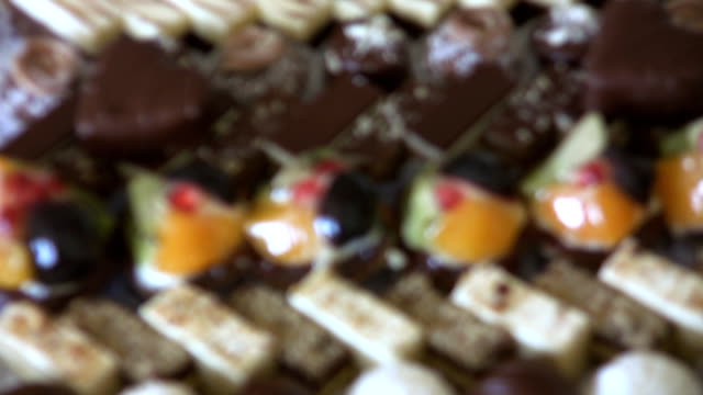 kuchen (hd - viele gegenstände stock-videos und b-roll-filmmaterial