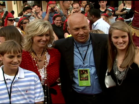 cal ripken and family at the walt disney pictures' 'pirates of the caribbean: dead man's chest' world premiere at walt disneyland resort in anaheim,... - the family man film title stock videos & royalty-free footage