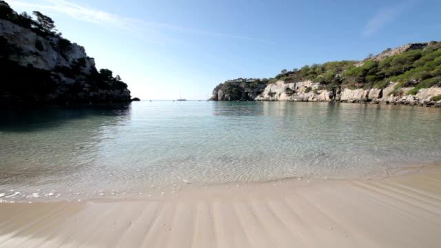 cala macarella - bay of water stock videos & royalty-free footage