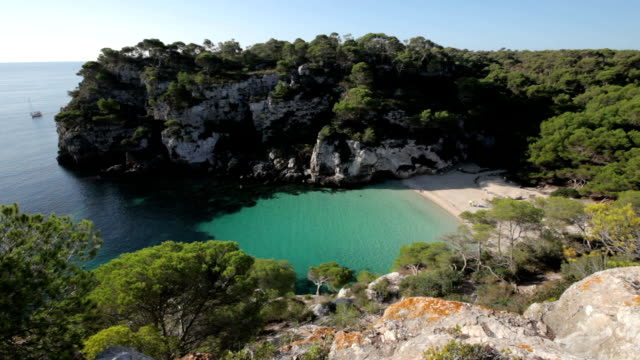 cala macarelleta - bay of water stock videos & royalty-free footage