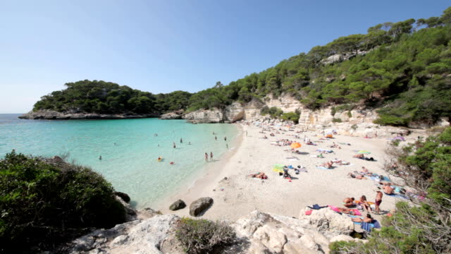 cala mitjana - balearic islands stock videos and b-roll footage