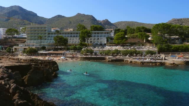 cala molins in cala san vicente, mallorca, balearic islands, spain, mediterranean, europe - majorca stock videos & royalty-free footage