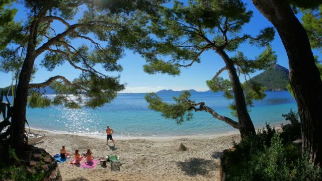 cala pi de la posada, cap de formentor, mallorca, mediterranean sea, balearic islands, spain - tranquil scene stock videos & royalty-free footage