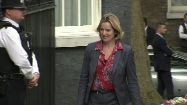 Amber Rudd to meet French counterpart LIB / 1372016 London Downing Street Various shots of Amber Rudd MP arriving at Number 10