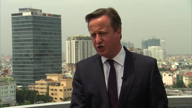 david cameron interview vietnam ext david cameron mp interview sot doing everything we can to make sure that border is secure invested in security... - calais stock videos and b-roll footage