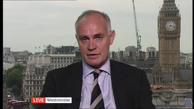 calais migrant crisis / david cameron pledges to tighten security france calais ext crispin blunt mp 2 way interview from westminster sot - calais stock videos and b-roll footage