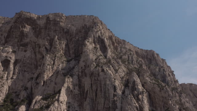 a calanque (limestone cliffs) near cassis - limestone stock videos & royalty-free footage