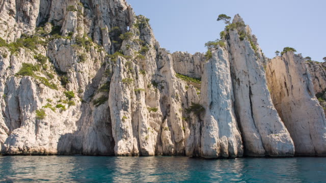 calanques near cassis - limestone stock videos and b-roll footage