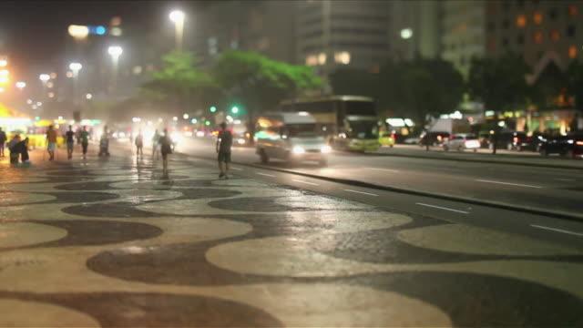 ws t/l calcadao de ipanema ipanema's main street / rio de janeiro, brazil - copacabana stock videos & royalty-free footage