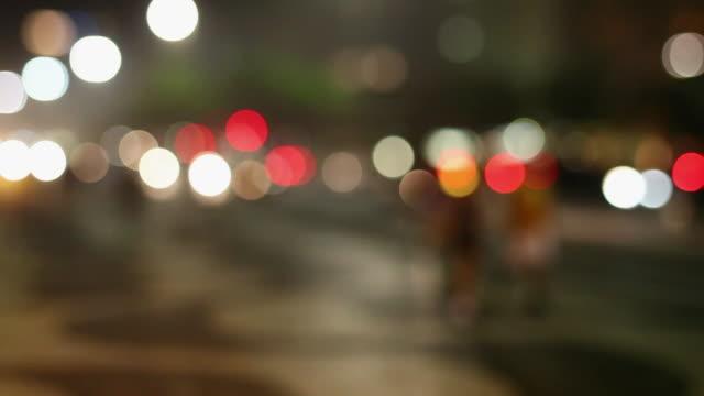 ws r/f calcadao de ipanema ipanema's main street / rio de janeiro, brazil - ピント送り点の映像素材/bロール