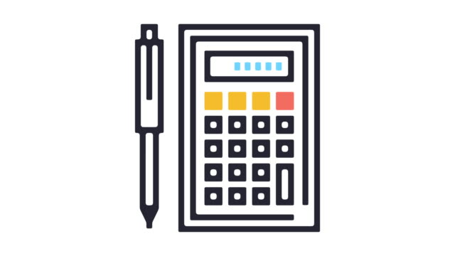 calculating icon animation - pencil icon stock videos & royalty-free footage