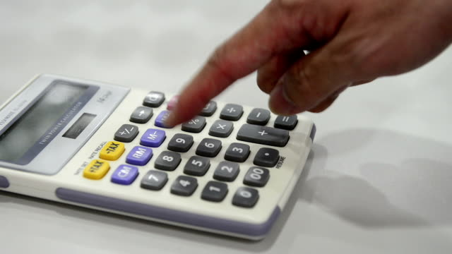 calculator - payslip stock videos & royalty-free footage