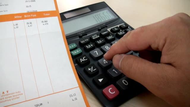 calculator - subtraction stock videos & royalty-free footage