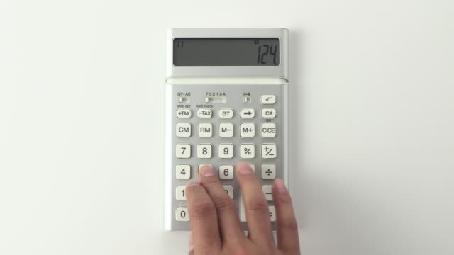 calculator - rechenmaschine stock-videos und b-roll-filmmaterial