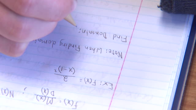 calculus notizen - trigonometrie stock-videos und b-roll-filmmaterial