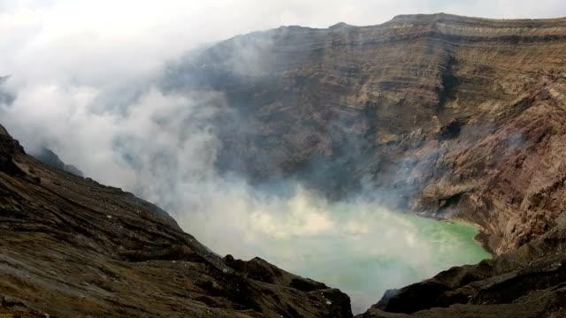 Caldera of Mount Aso in Japan