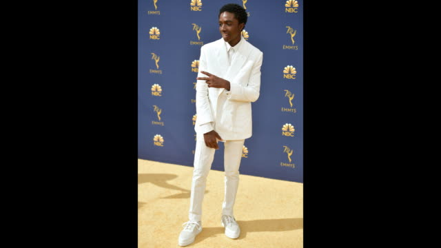 vídeos de stock, filmes e b-roll de caleb mclaughlin attends the 70th emmy awards at microsoft theater on september 17 2018 in los angeles california - 70th annual primetime emmy awards