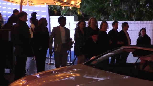 caleb mclaughlin outside the entertainment weekly prescreen actors guild awards party at chateau marmont in los angeles at celebrity sightings in los... - entertainment weekly stock videos & royalty-free footage