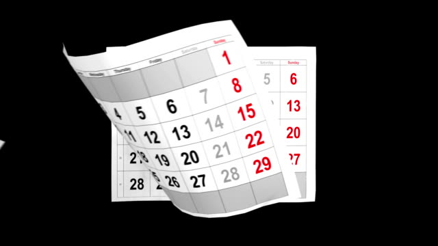 calendario 2014 con alfa di animazione - lanciare video stock e b–roll
