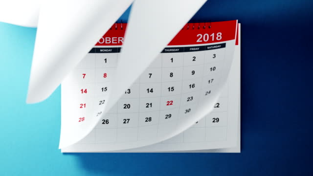 vídeos de stock e filmes b-roll de calendar 2019 animation in 4 k resolution - classificados
