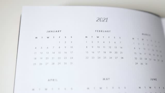 calendario 2021 - week video stock e b–roll