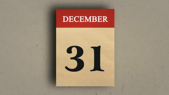 calendar animation, december, new year calendar. - 2020 business stock videos and b-roll footage
