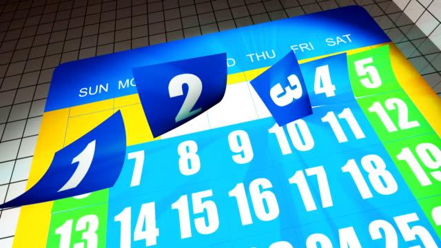 calendar card - tearing stock videos & royalty-free footage