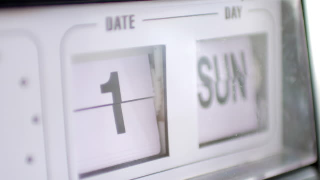calendar count of the week sunday to saturday - temporale video stock e b–roll