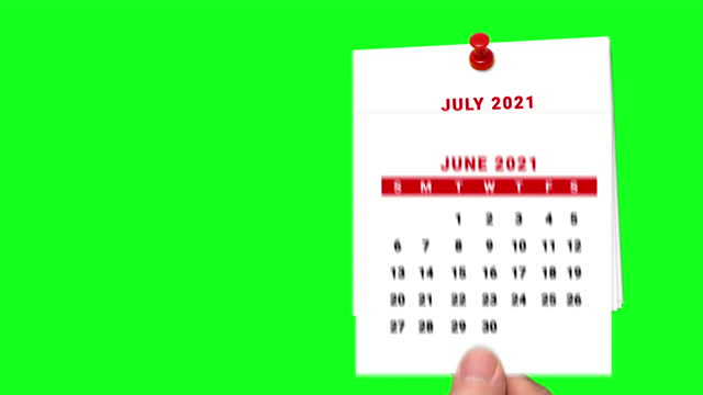 2021 calendar countdown january to july on green screen - month stock videos & royalty-free footage