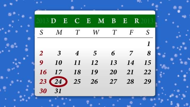 Calendar december 2013 - chroma key