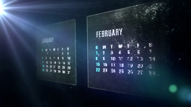 calendar digital - calendar stock videos & royalty-free footage