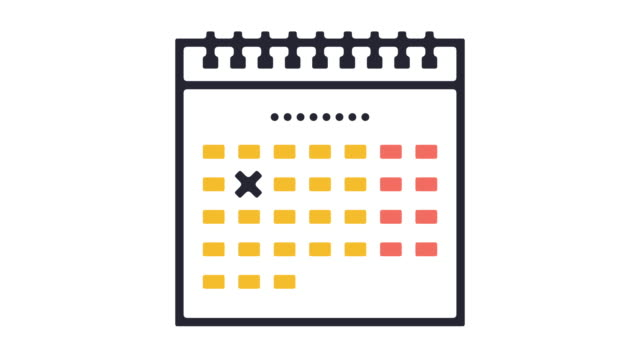 calendar icon animation - illustration stock videos & royalty-free footage