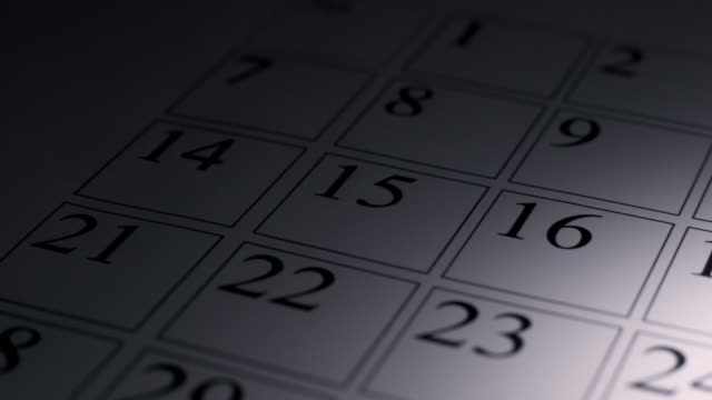 calendario - week video stock e b–roll