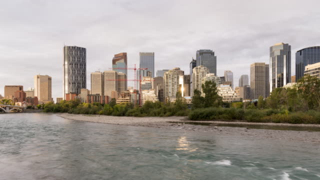 Calgary in Motion: Bow River and City Skyline