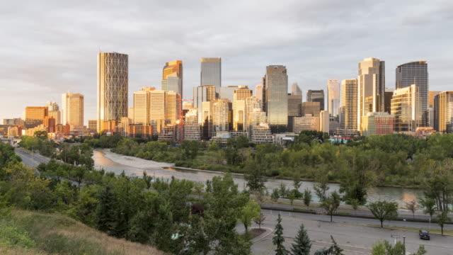 Calgary in Motion: Urban Skyline Sunrise