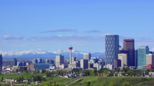 calgary skyline - alberta stock videos & royalty-free footage