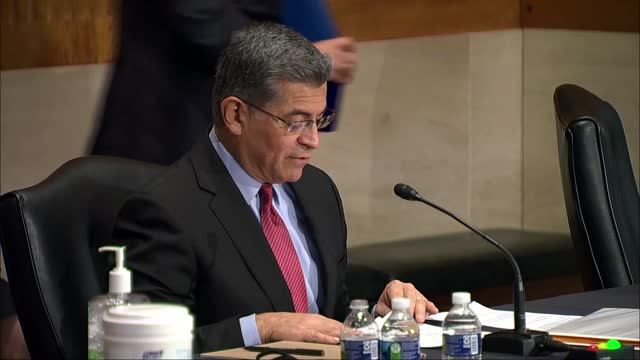 california attorney general xavier becerra says at senate help committee hearing on his nomination to be health and human services secretary that the... - human face video stock e b–roll