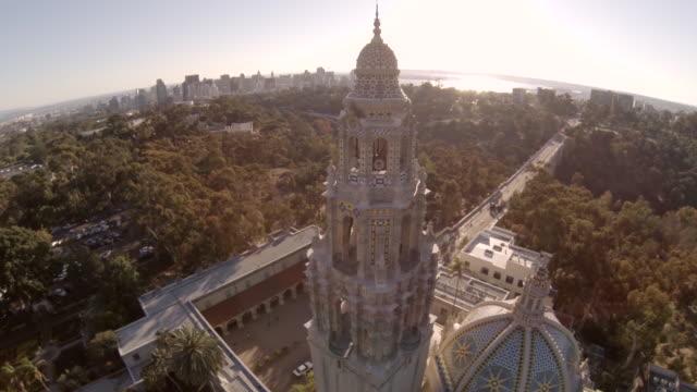 WS HA TU California bell tower in Balboa / San Diego, California, United States