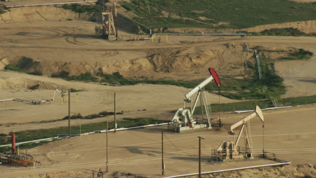 usa, california: close up of oil extractors - pipeline stock videos and b-roll footage