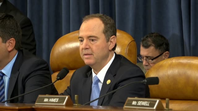 california congressman adam schiff makes a motion at a house intelligence committee hearing on china to compel testimony from an interpreter for... - court hearing stock videos & royalty-free footage