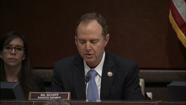 california congressman adam schiff opens a hearing of the house intelligence committee with former cia director john brennan to discuss russian... - national security agency usa stock videos and b-roll footage