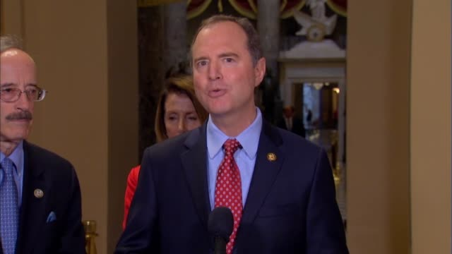 california congressman adam schiff tells reporters at a press briefing hours after the white house threatened to pull classified clearances from... - scolding stock videos & royalty-free footage