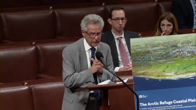 california congressman alan lowenthal argues in debate on a bill to ban oil and gas development in the arctic national wildlife refuge that one idea... - arctic national wildlife refuge stock videos & royalty-free footage