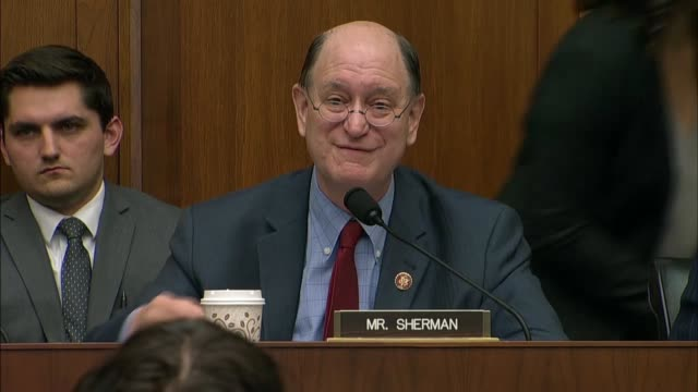 california congressman brad sherman says at a house financial services committee hearing with facebook ceo mark zuckerberg that he had said... - banking sign stock videos & royalty-free footage