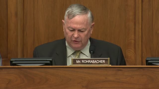 California Congressman Dana Rohrabacher says at a hearing of the House Foreign Affairs Committee that his father was a Korean War veteran and he...