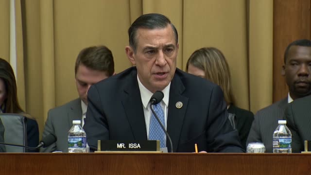california congressman darrell issa asks fbi director christopher wray about the role of peter strzok whether it is allowed for fbi agents to... - christopher a. wray stock videos & royalty-free footage