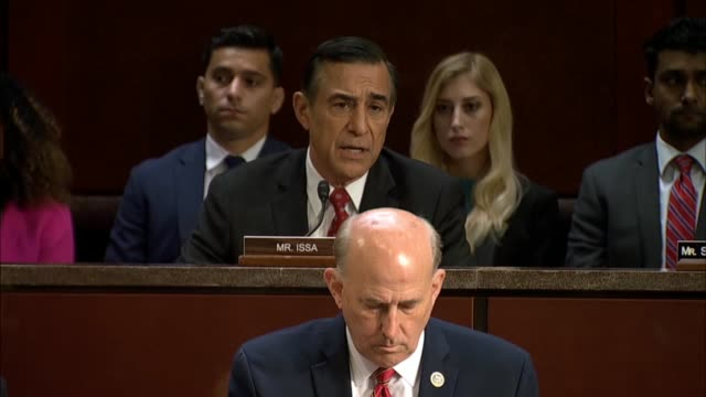 California Congressman Darrell Issa of the House Oversight and Government Reform Committee says at a joint hearing that in Justice Department...